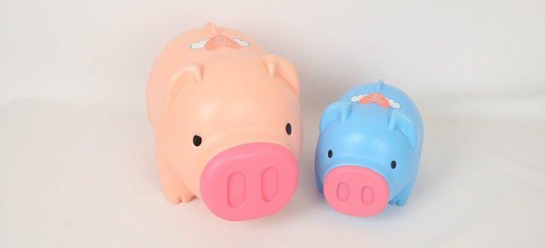 Two piggy banks.
