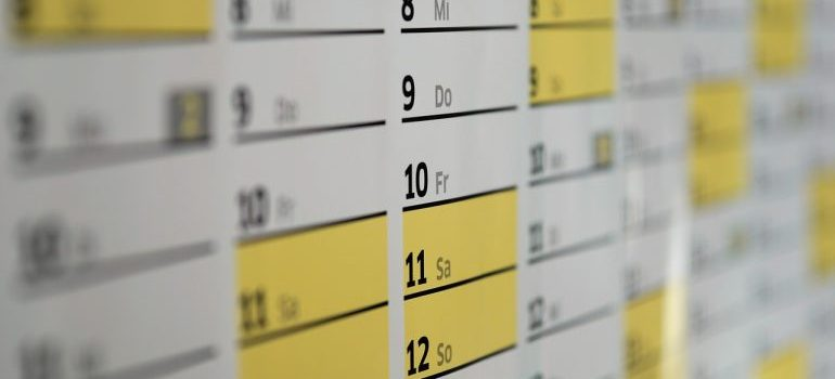 a calendar - Commercial moving