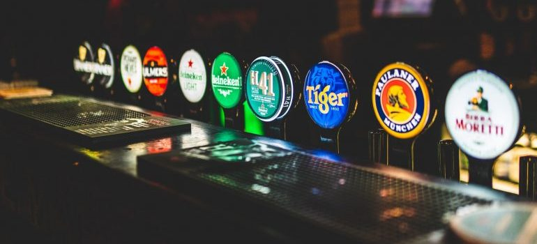 Various drinks you can get at an indie boozer