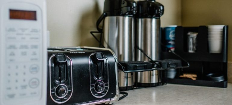 Small kitchen appliances on the counter