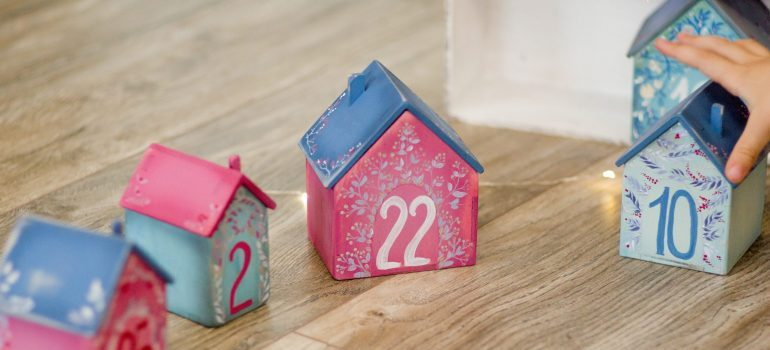 Model houses with numbers