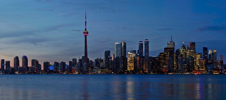 Toronto landscape at night