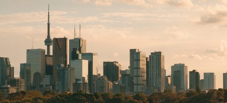 The view from Riverdale Park, East Toronto, Canada