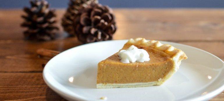 A piece of pumpkin pie.