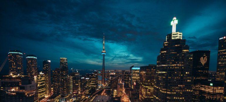 Night view of Toronto