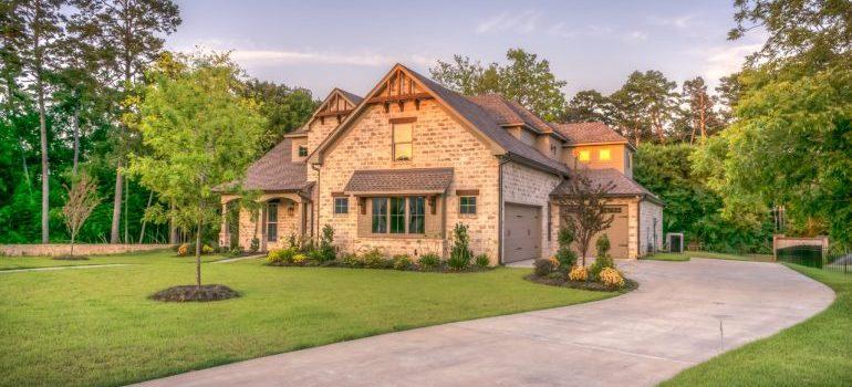 A suburban house.